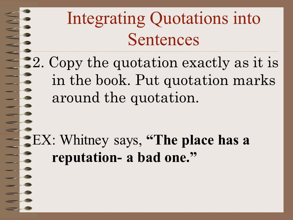Integrating quotes into an essay apartment