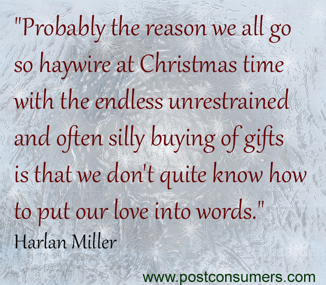 how to avoid christmas consumerism