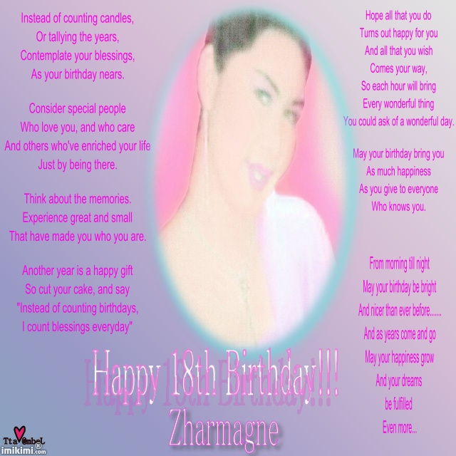 Funny Quotes For Her Birthday Quotesgram: Happy 18th Birthday Inspirational Quotes. QuotesGram