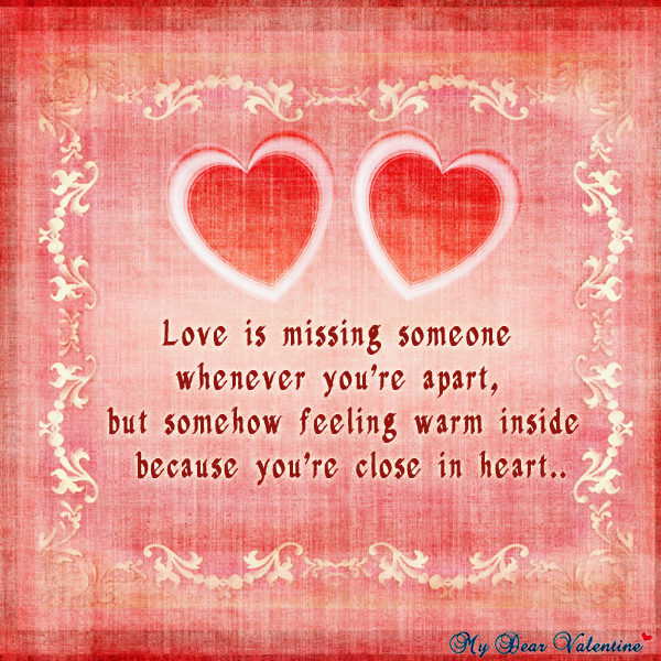 Missing Your Love Quotes: Quotes About Missing Someone You Love. QuotesGram