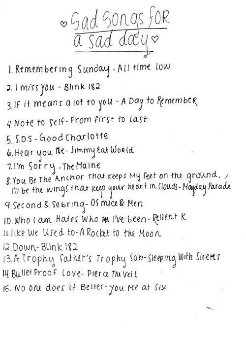 List of sad love songs