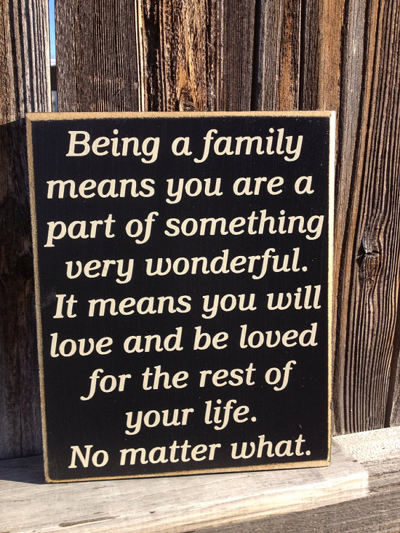 Quotes From The First Part Last: Being A Family Means Quotes. QuotesGram