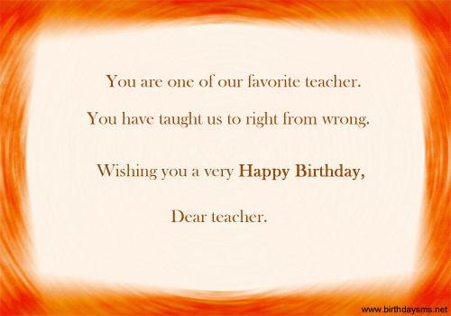 Birthday Wishes Quotes To Teacher : Happy birthday quotes for teacher quotesgram