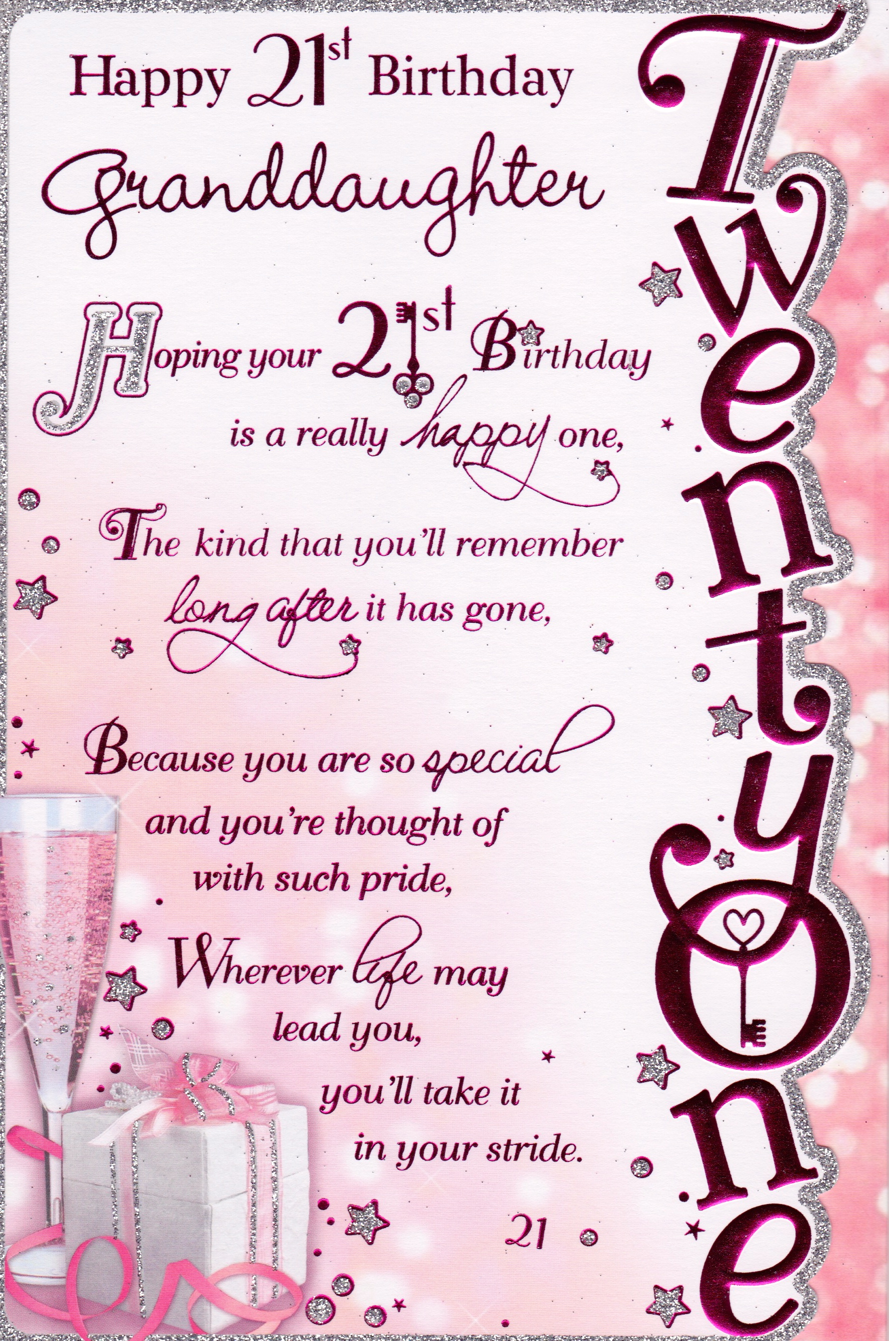 Happy 21st Birthday Daughter Quotes Quotesgram