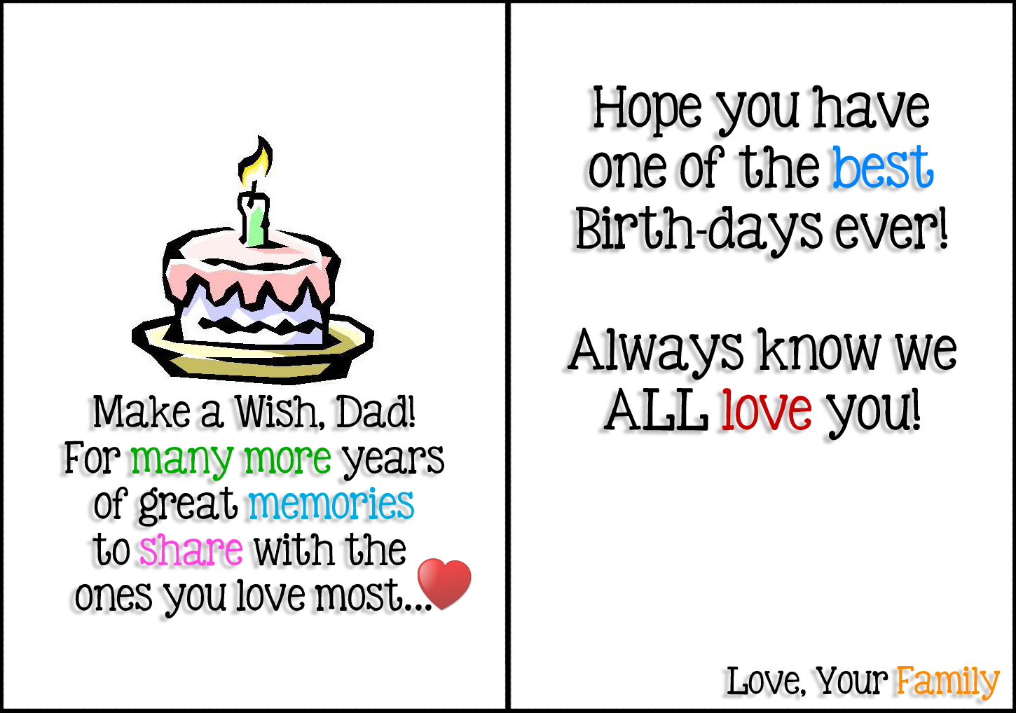 Printable Quotes For Dads Birthday Quotesgram