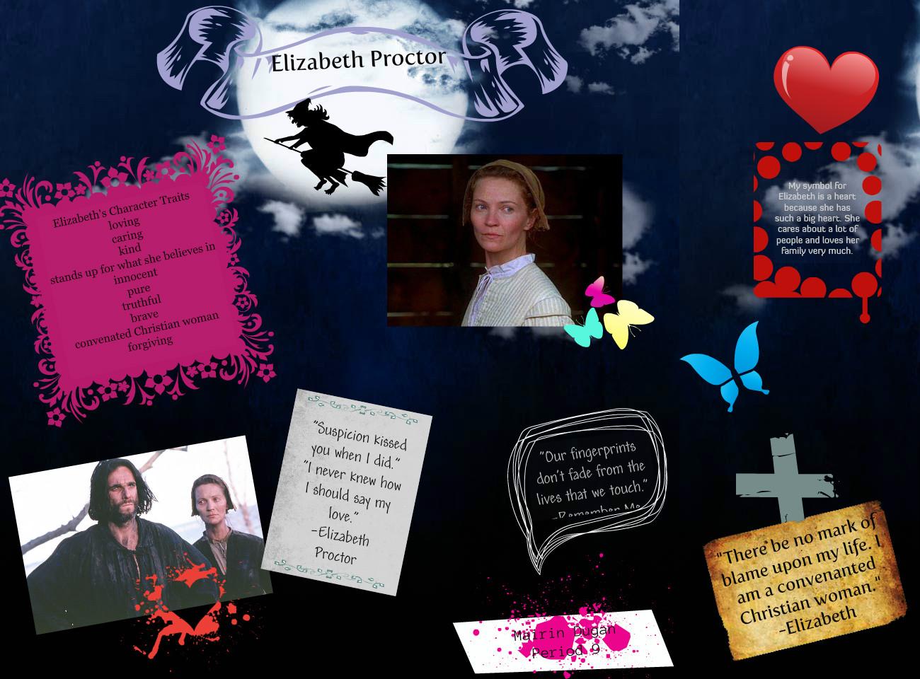 Character analysis essay on elizabeth proctor