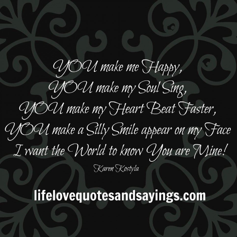 you make me happy quotes quotesgram