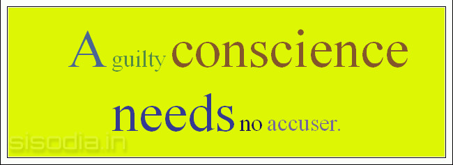 Quotes About Conscience And Guilt. QuotesGram
