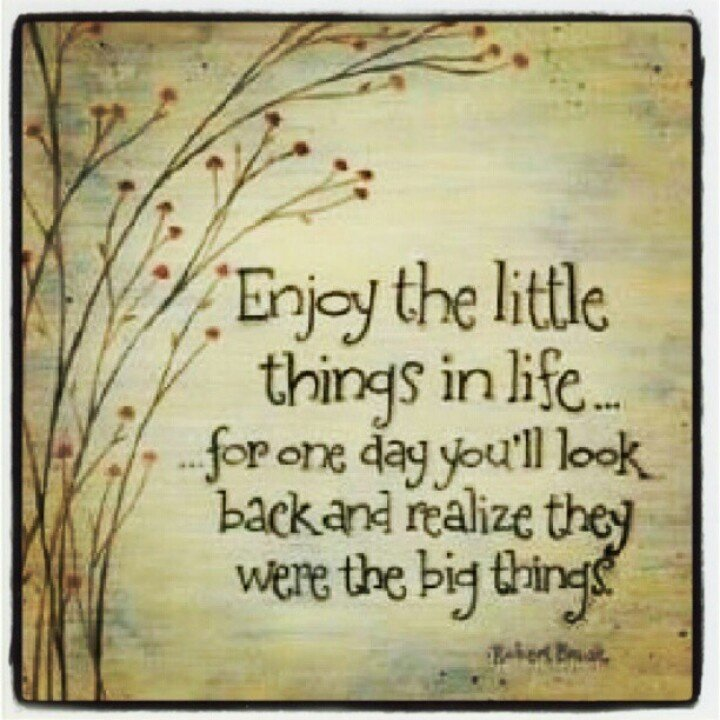 The Little Things Matter Most In Life: Its The Little Things In Life Quotes. QuotesGram