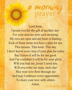 Prayer before starting work morning Prayer before