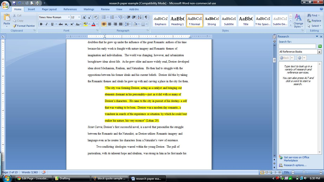 annotated bibliography for sister carrie