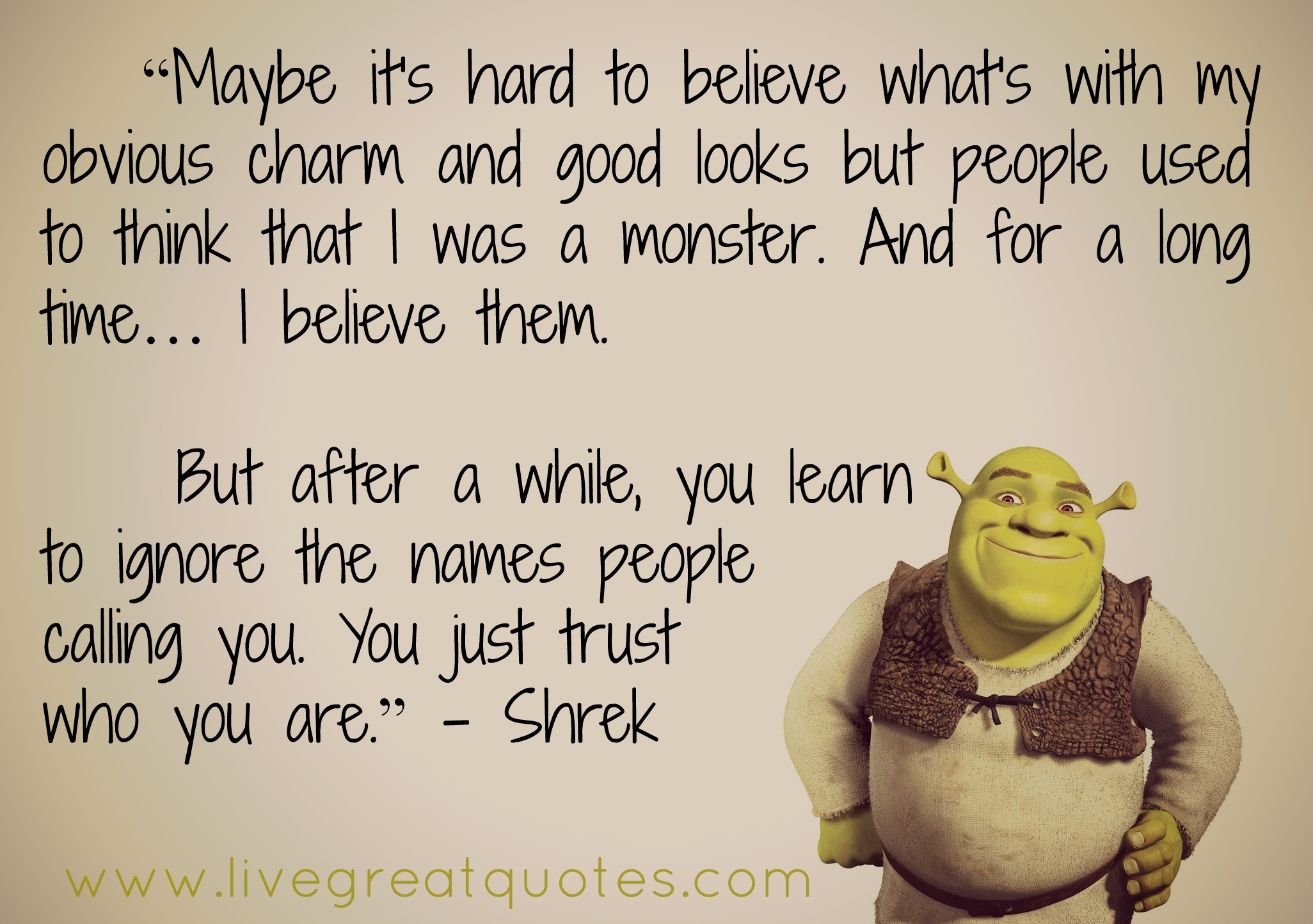 Funny Quotes About Cruise Ships Quotesgram: Funny Shrek Quotes. QuotesGram