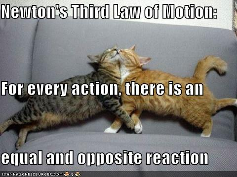 understanding sir isaac newtons third law of action and reaction Lesson plan for newton's third law episode six 206 students will gain an understanding of newton's third law of motion: inform the students that today they are all going to learn about newton's third law - for every action there is an equal and opposite reaction.