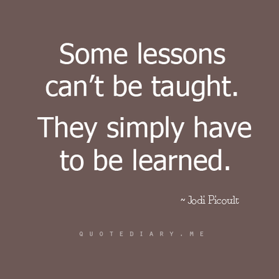 Lesson To Be Learned