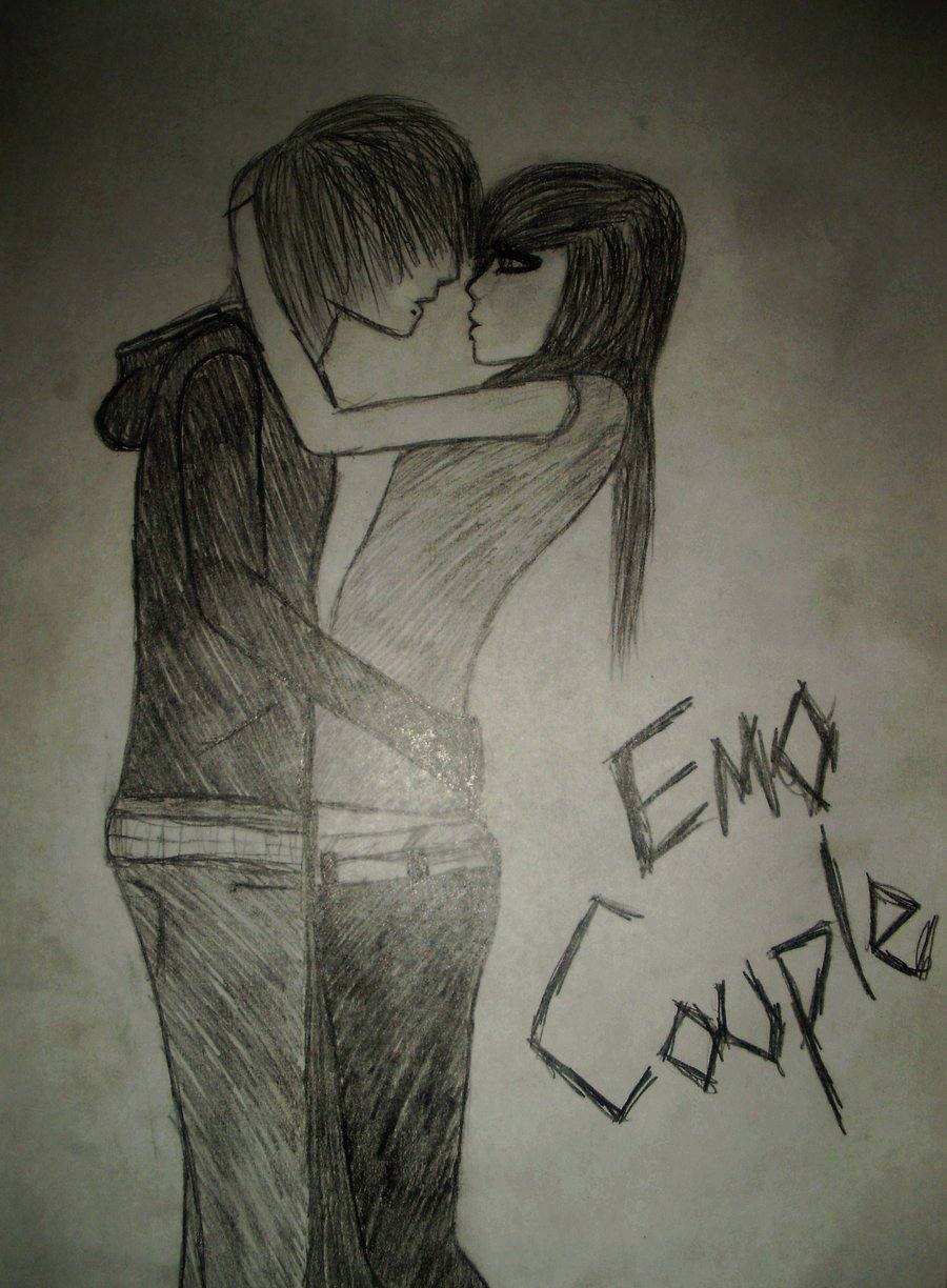 Cute Anime Boy Drawing Images: Cute Emo Couple Quotes. QuotesGram