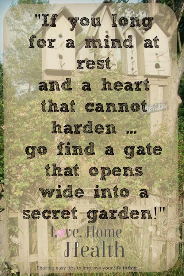 Quotes About Garden Gates Quotesgram