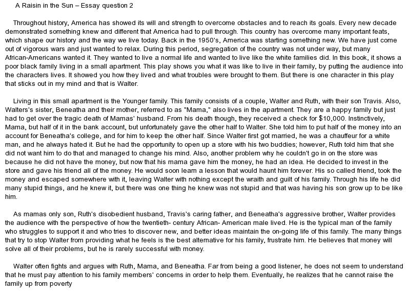 Good Essay Questions