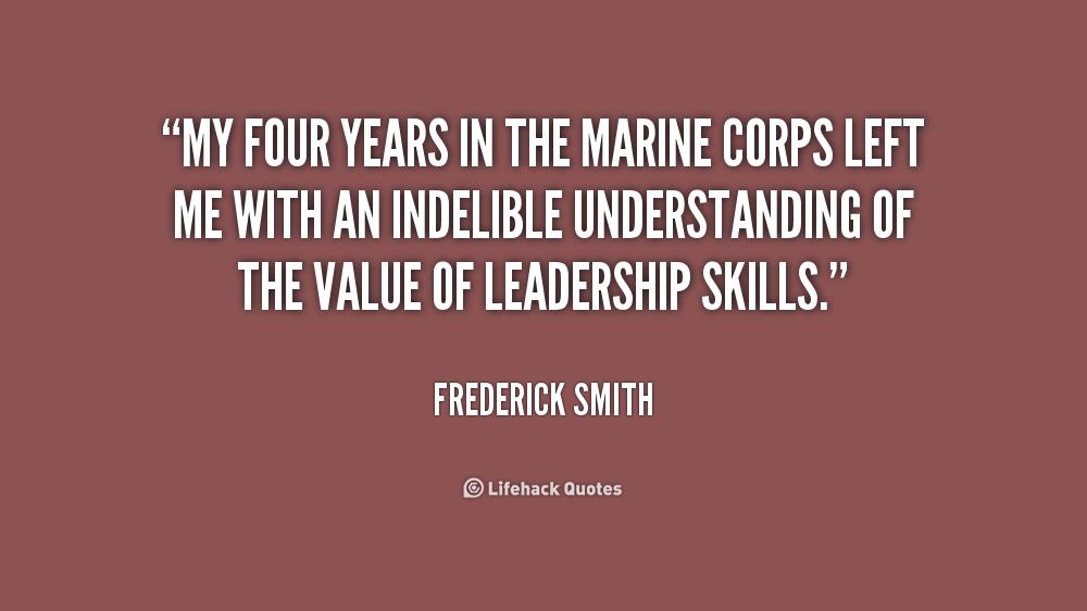 Marine Corps Leadership Quotes Quotesgram