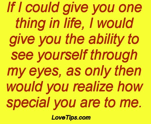You Are Special To Me Quotes. QuotesGram