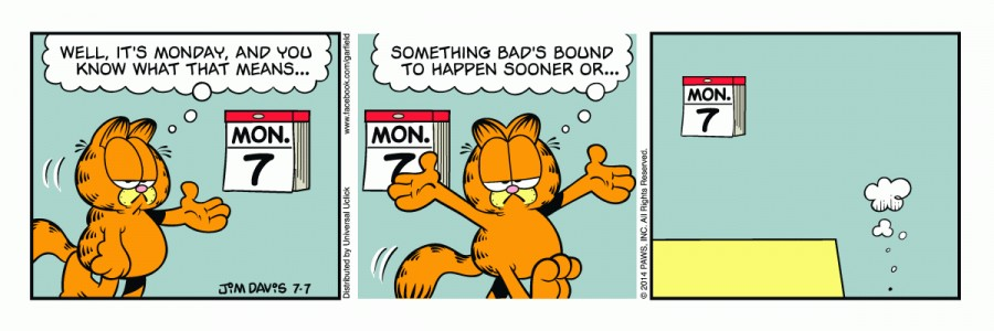 Garfield Monday Quotes. QuotesGram | 900 x 300 jpeg 59kB