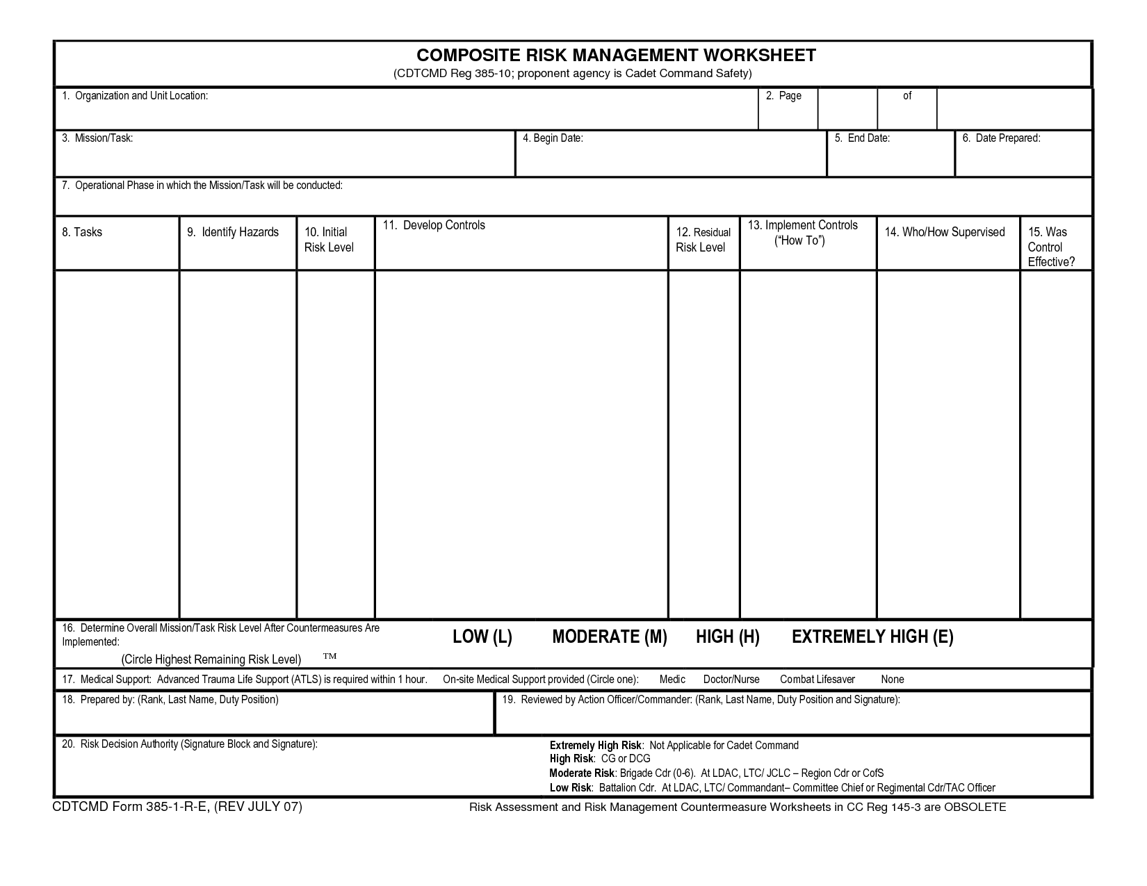 Printables Risk Management Worksheet da form 7566 composite risk management worksheet syndeomedia mysticfudge