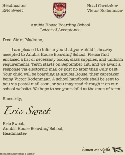 acceptance letter for nursing school