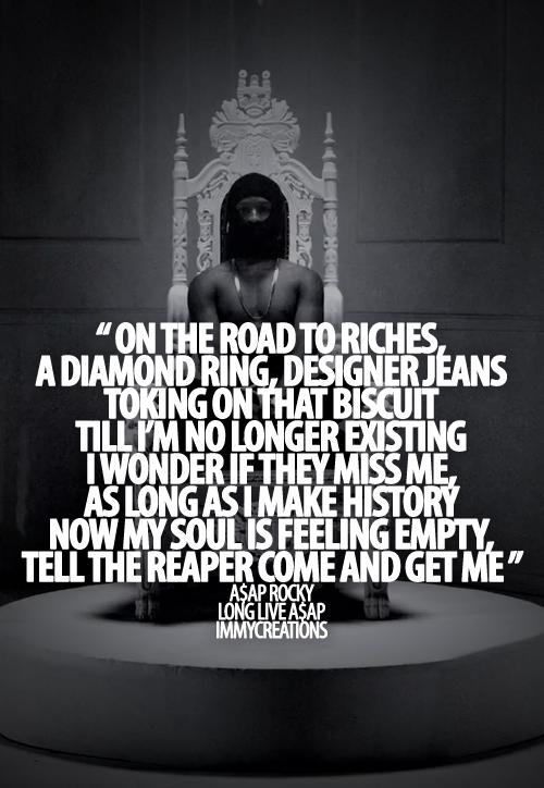 Asap Rocky Rap Quotes QuotesGram