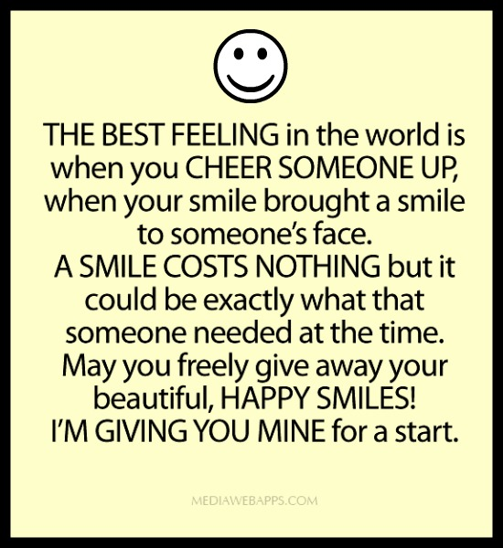 Inspirational Quotes To Cheer Someone Up. QuotesGram Quotes To Cheer Someone Up