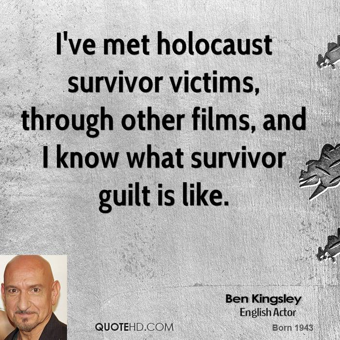 survivor guilt in thw holocaust Why an african perspective on humanity shows that survivor's guilt makes sense march 22, 2018 1126am edt shutterstock why an african perspective on humanity.