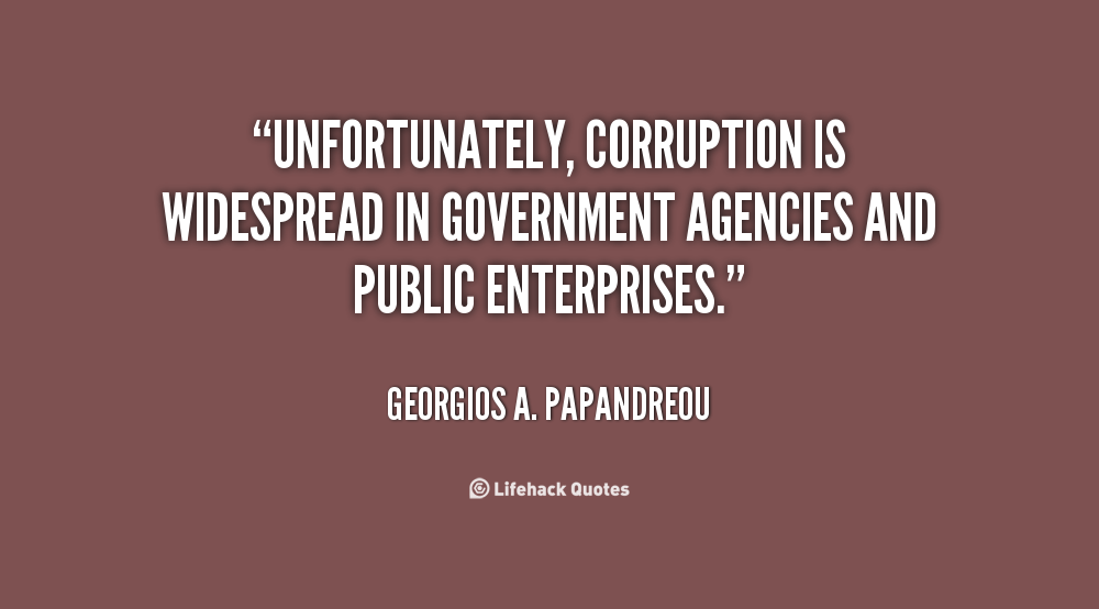quotes around data corruption in government