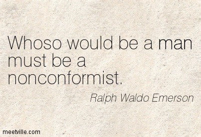 emerson and individualism In self-reliance, ralph waldo emerson describes his vision of the individual, a man dependent on himself and refusing to conform to social standards and expectations.