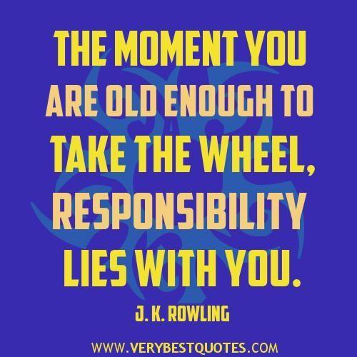 famous responsibility quotes quotesgram