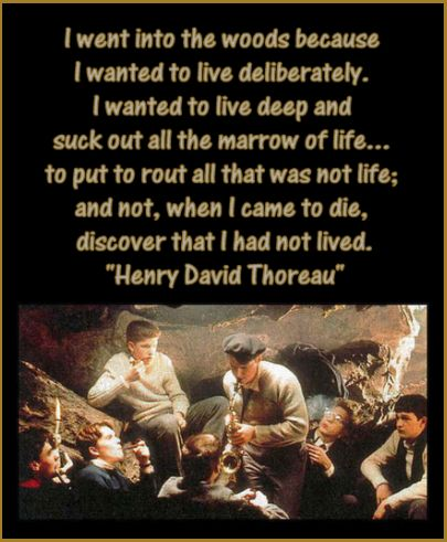 """to suck the marrow out of life transcendentalism in dea poets society essay You may remember this quote from thoreau read by robin williams as the professor in """"dead poet's society suck the marrow out of life your life, this would."""