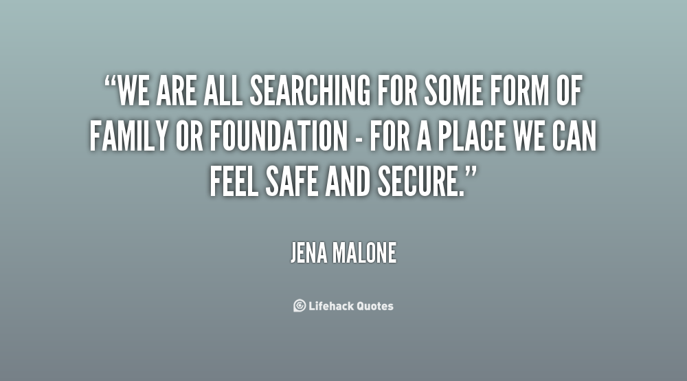 Quotes Feeling Safe And Secure. QuotesGram