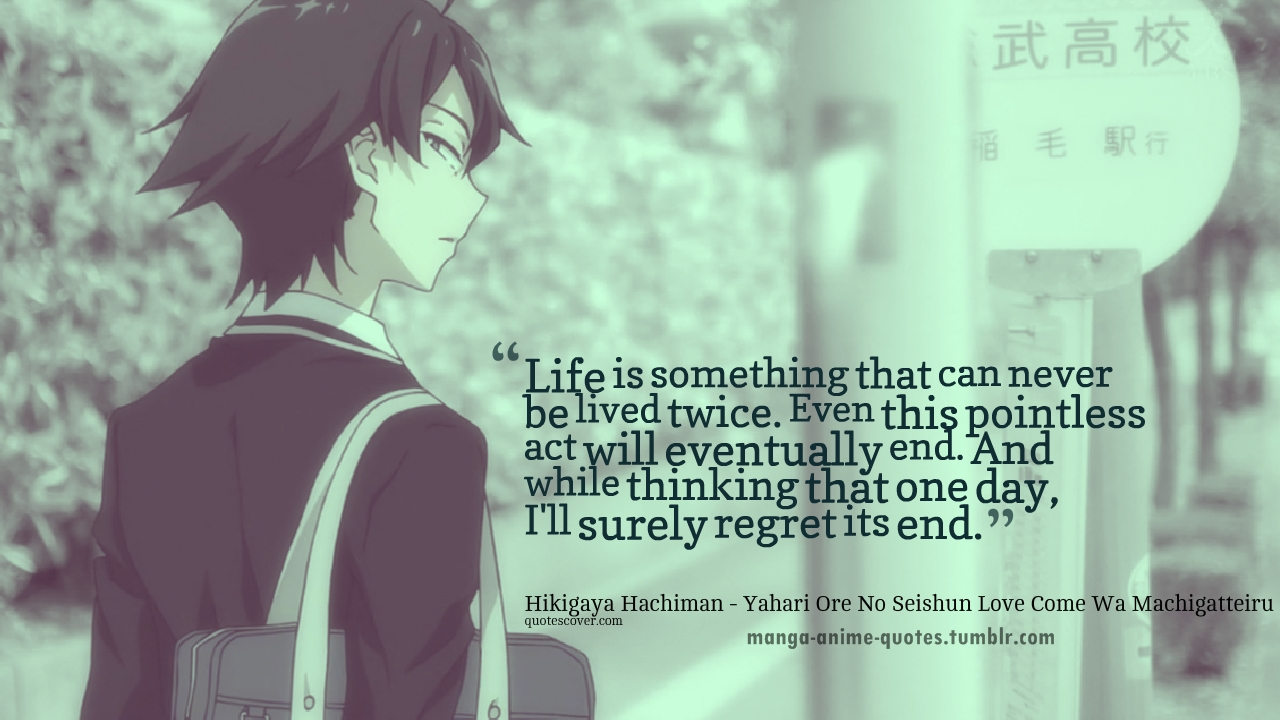 Anime Quotes About Life Quotesgram
