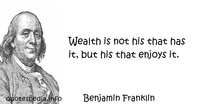 benjamin franklins ideas about success and the paths to success reflect changing notions wealth and