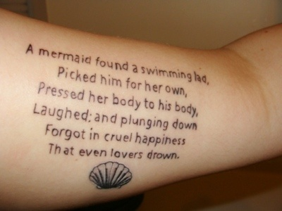 Little Mermaid Quotes Tattoo