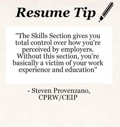good resume quotes - Sample Resume Skills Section