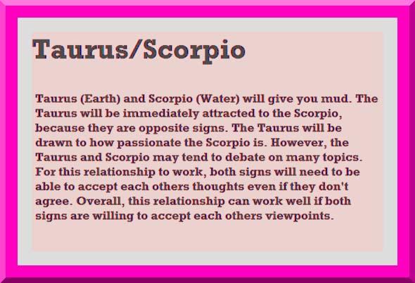 Scorpio and taurus sex wish was