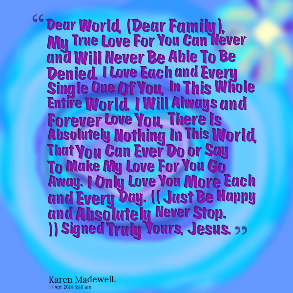 I Love You Quotes: I Love You Family Quotes. QuotesGram