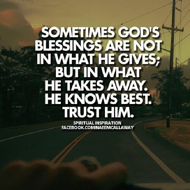 trusting life to god