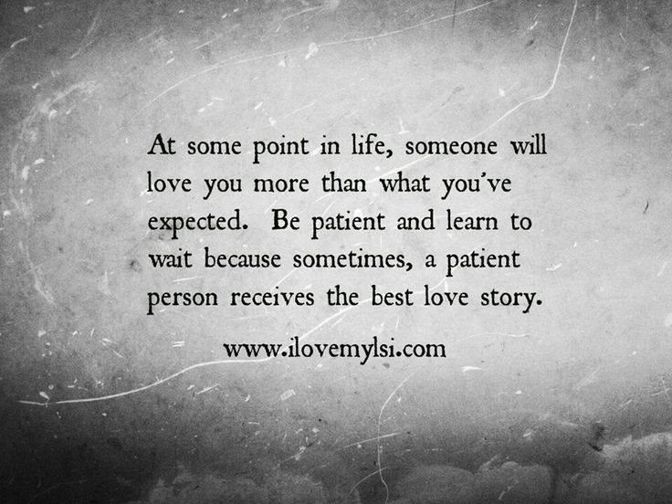 Love relationship in patience A Love
