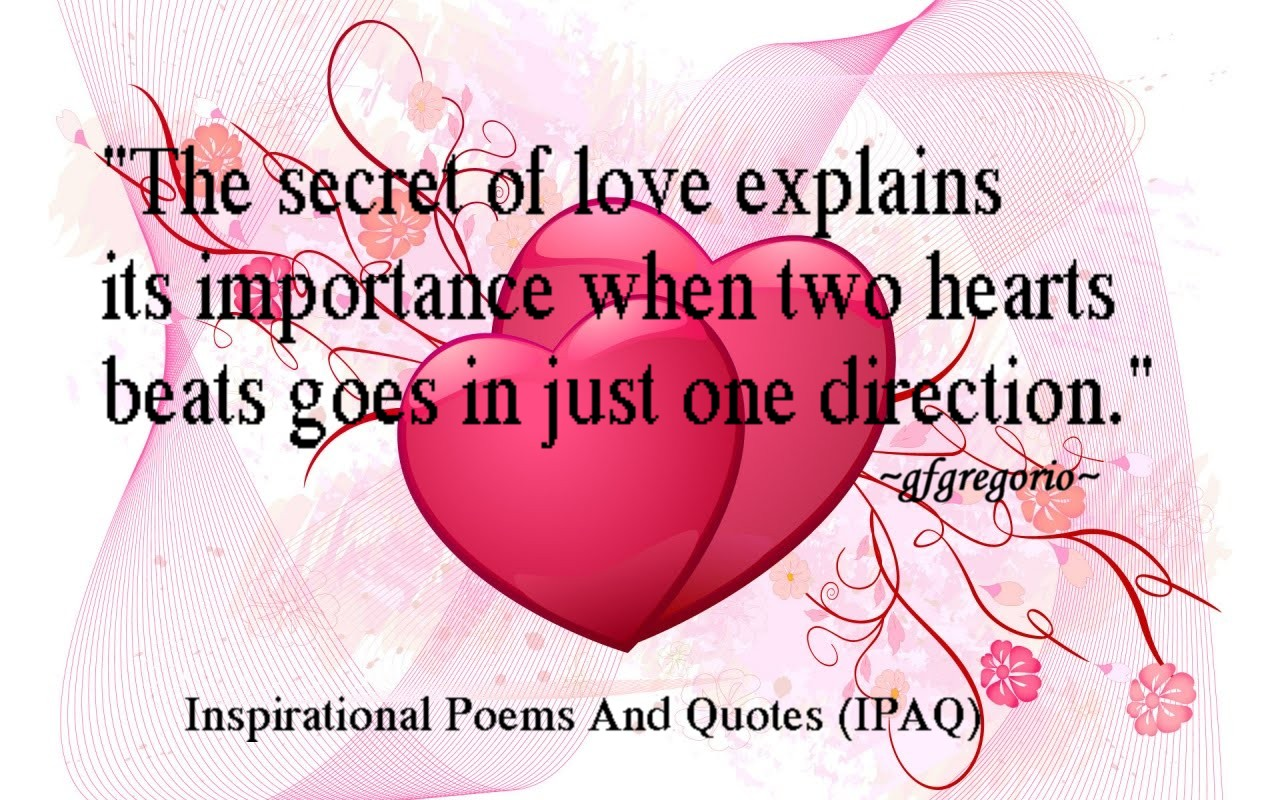 Quotes About Love For Him: Secret Love Quotes And Poems. QuotesGram