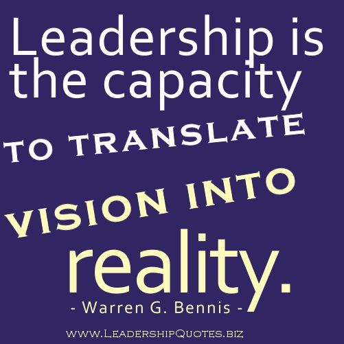 Leadership Vision Quotes: Vision Quotes On Leadership. QuotesGram
