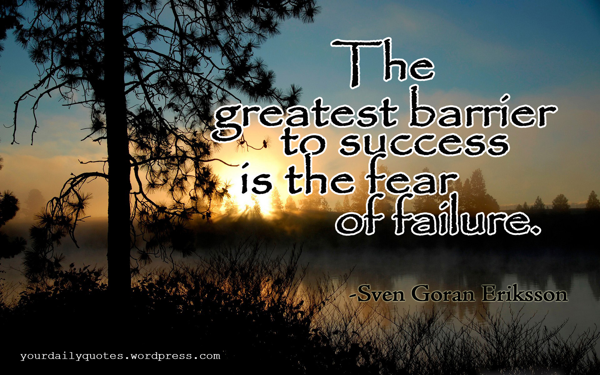 the fear of success The fear of success by bruce elkin for many of my clients, their biggest fear is failing, looking stupid, and being laughed at but, working with a coach.
