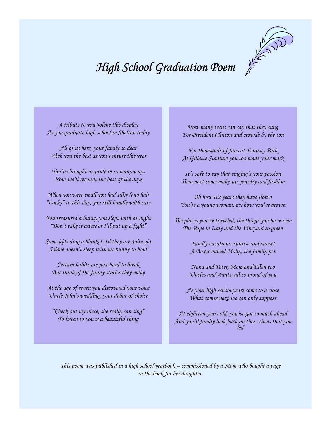 Graduation Poems And Quotes. QuotesGram