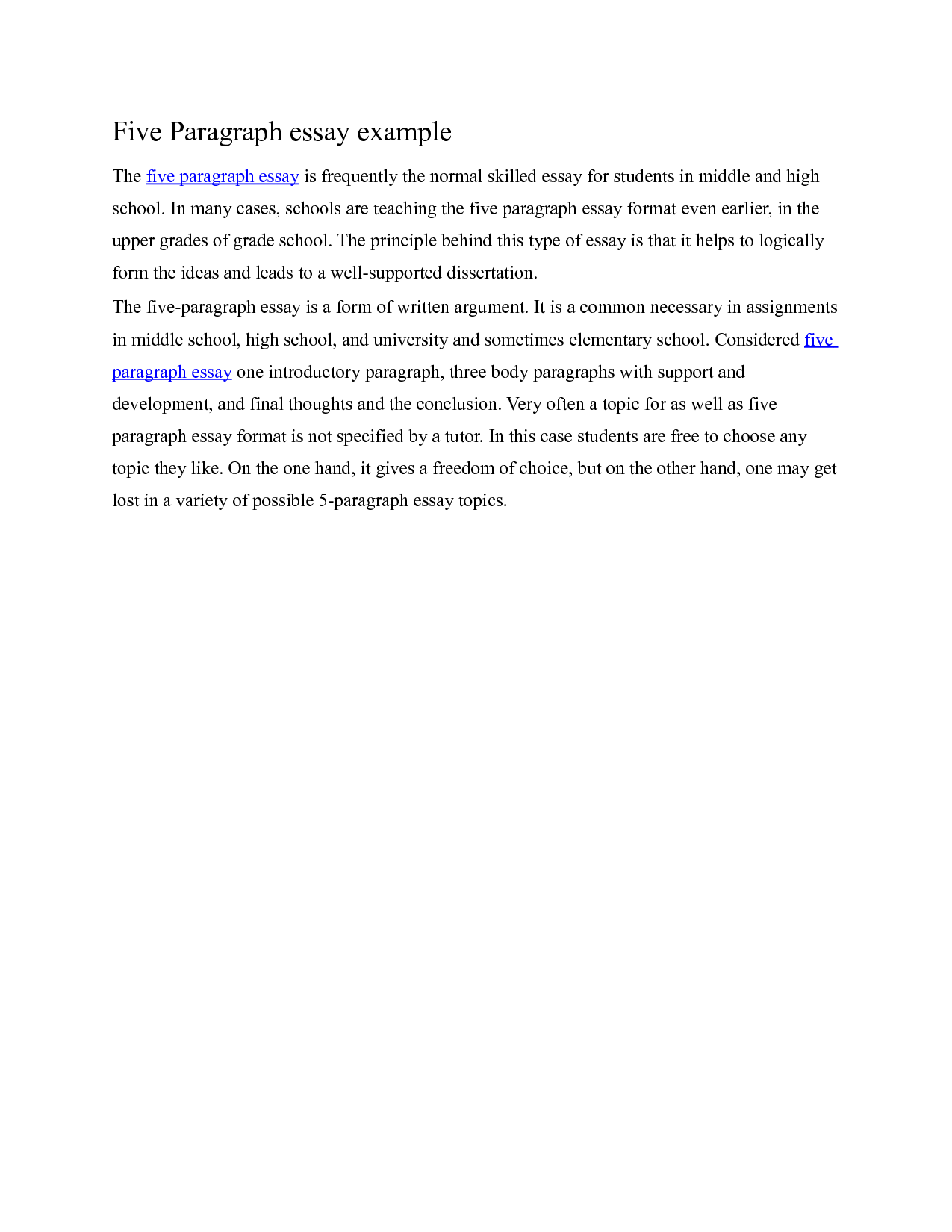 5 Paragraph Essay Example On Quotes Quotesgram