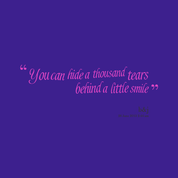 quotations on smile and tears - photo #18