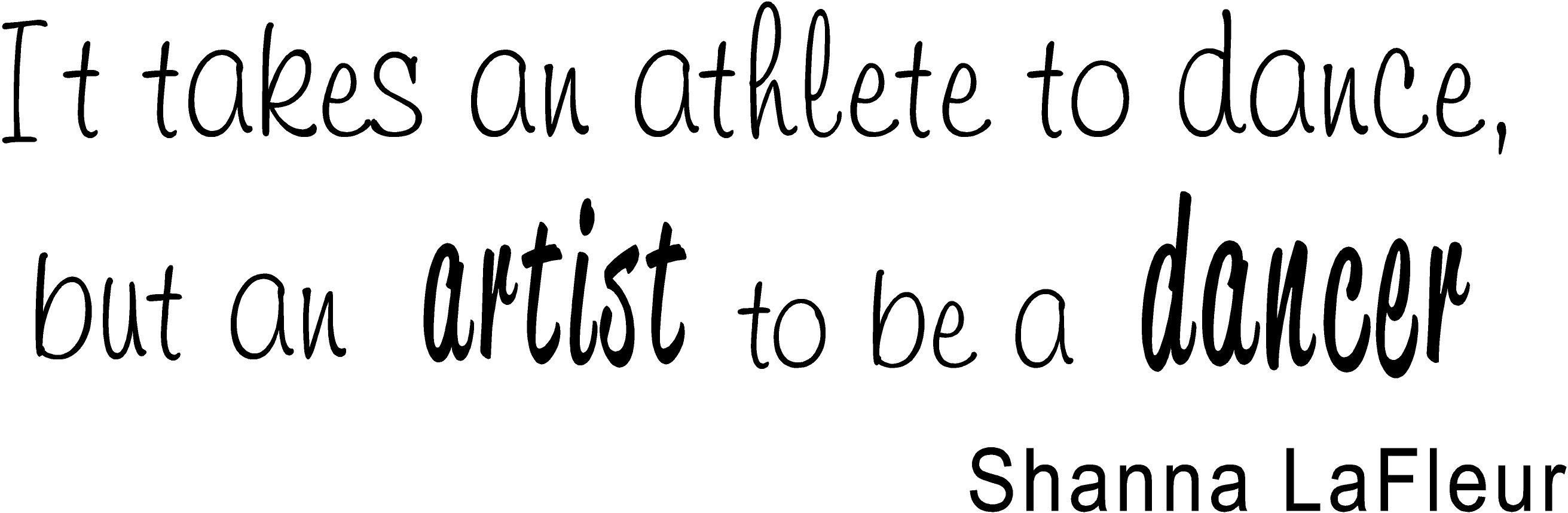 Quotes About Dancers Being Athletes Quotesgram