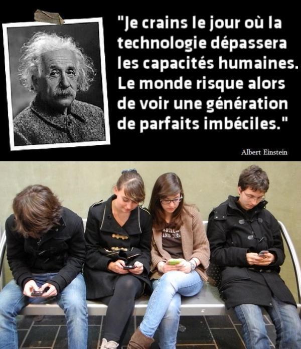 Albert Einstein Quotes Technology Idiots Quotesgram